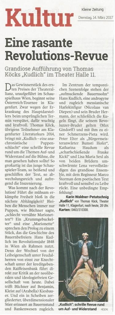 Kudlich Kleine Zeitung 14.03. 2017