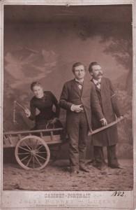 Lou Salomé mit Paul Rée und Friedrich Nietzsche. Bild: Copyright Dorothee Pfeiffer, Lou Andreas-Salomé Archiv